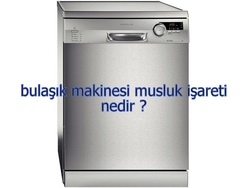 bulaşık makinesi musluk işareti