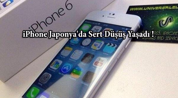 iPhone Japonya'da Sert Düşüş Yaşadı !