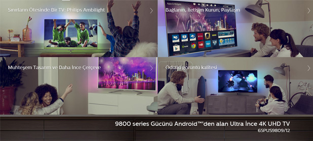 Philips 'in Avrupa 'nın ilk Android işletim sistemli Smart TV'si