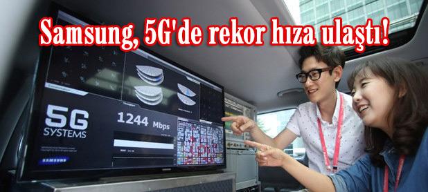 Samsung, gerçekleştirdiği 5G mobil ortam testiyle, hız rekorunu kırdı.
