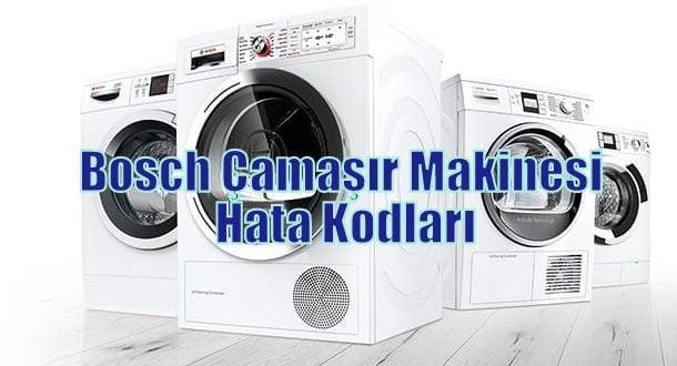 Bosch Çamaşır Makinesi Hata Kodları