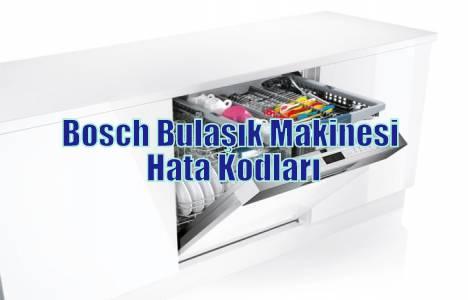 Bosch Bulaşık Makinesi Hata Kodları