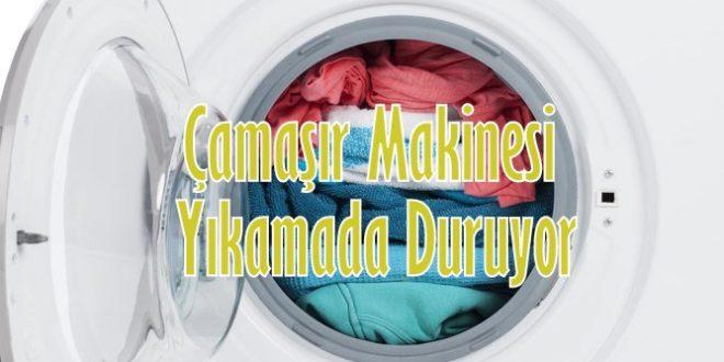 Çamaşır Makinesi Yıkamada Duruyor