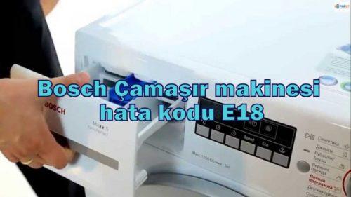 Çamaşır makineleri için hata kodları Bosch: nedenleri ve çözümleri