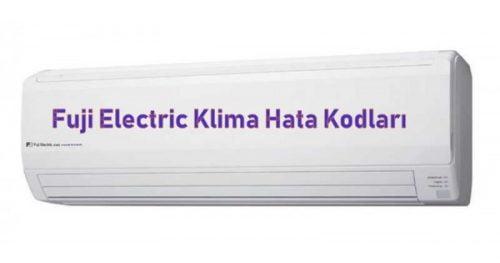 Fuji Electric Klima Hata Kodları