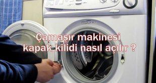 Çamaşır makinesi kapak kilidi nasıl açılır