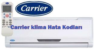 Carrier klima Hata Kodları Arıza Kodlarının Açıklaması