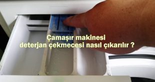 Çamaşır makinesi deterjan çekmecesi nasıl çıkarılır