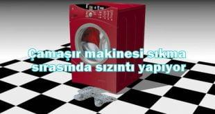 Çamaşır makinesi sıkma sırasında sızıntı yapıyor