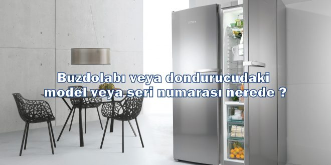 Buzdolabı veya dondurucudaki model veya seri numarası nerede