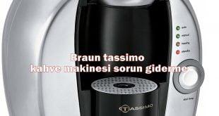 Braun tassimo kahve makinesi