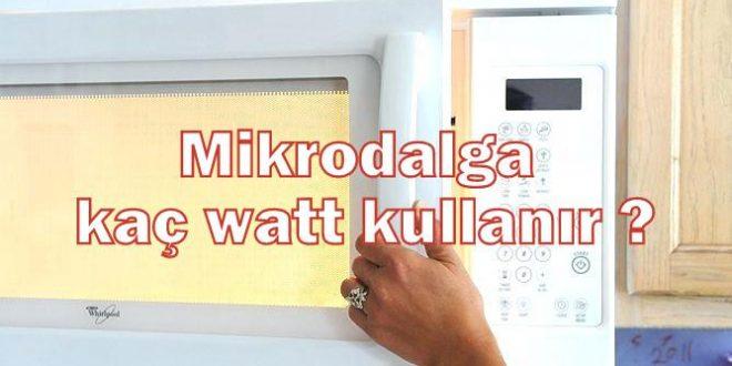 Mikrodalga kaç watt kullanır