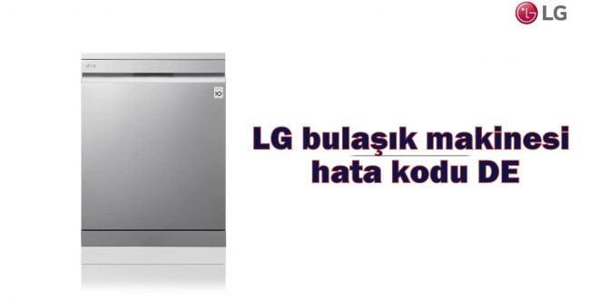 LG bulaşık makinesi hata kodu DE