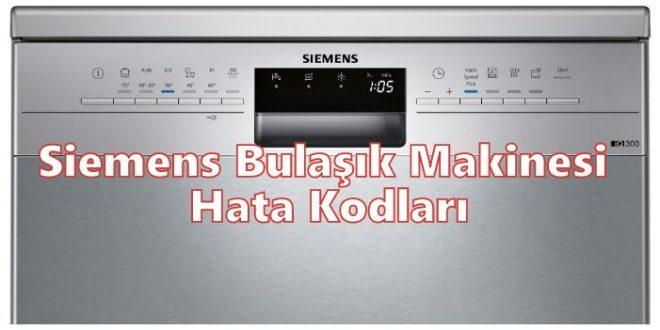 Siemens Bulaşık Makinesi Hata Kodları