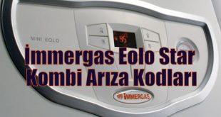 İmmergas Eolo Star Kombi Arıza Kodları