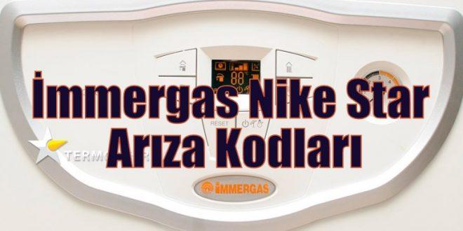 İmmergas Nike Star Arıza Kodları