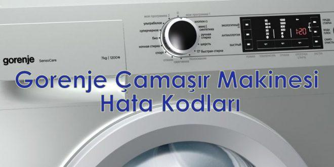 Gorenje Çamaşır Makinesi Hata Kodları