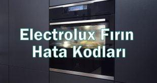 Electrolux Fırın Hata Kodları